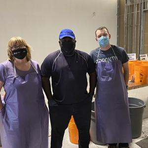 three green depot employees