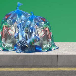 bags of recycling